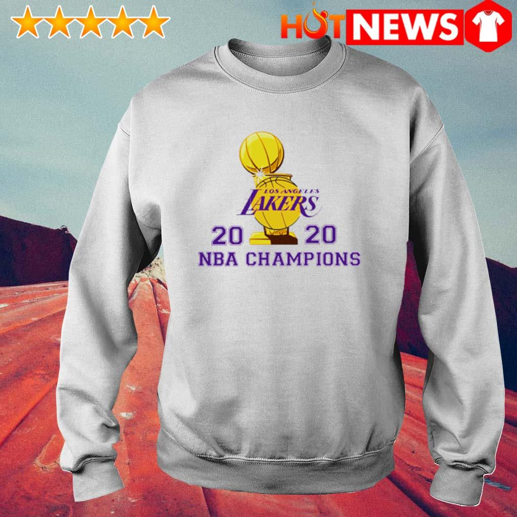 Los Angeles Lakers 2020 NBA champions s 6 HNT Sweat White