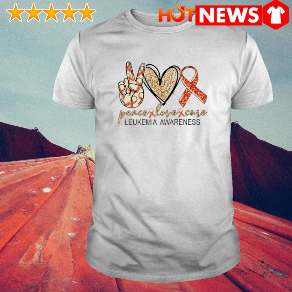Peace love cure Leukemia Awareness shirt