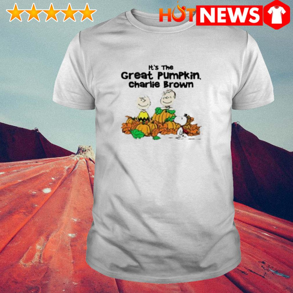 Peanuts characters it's the great pumpkin Charlie Brown shirt