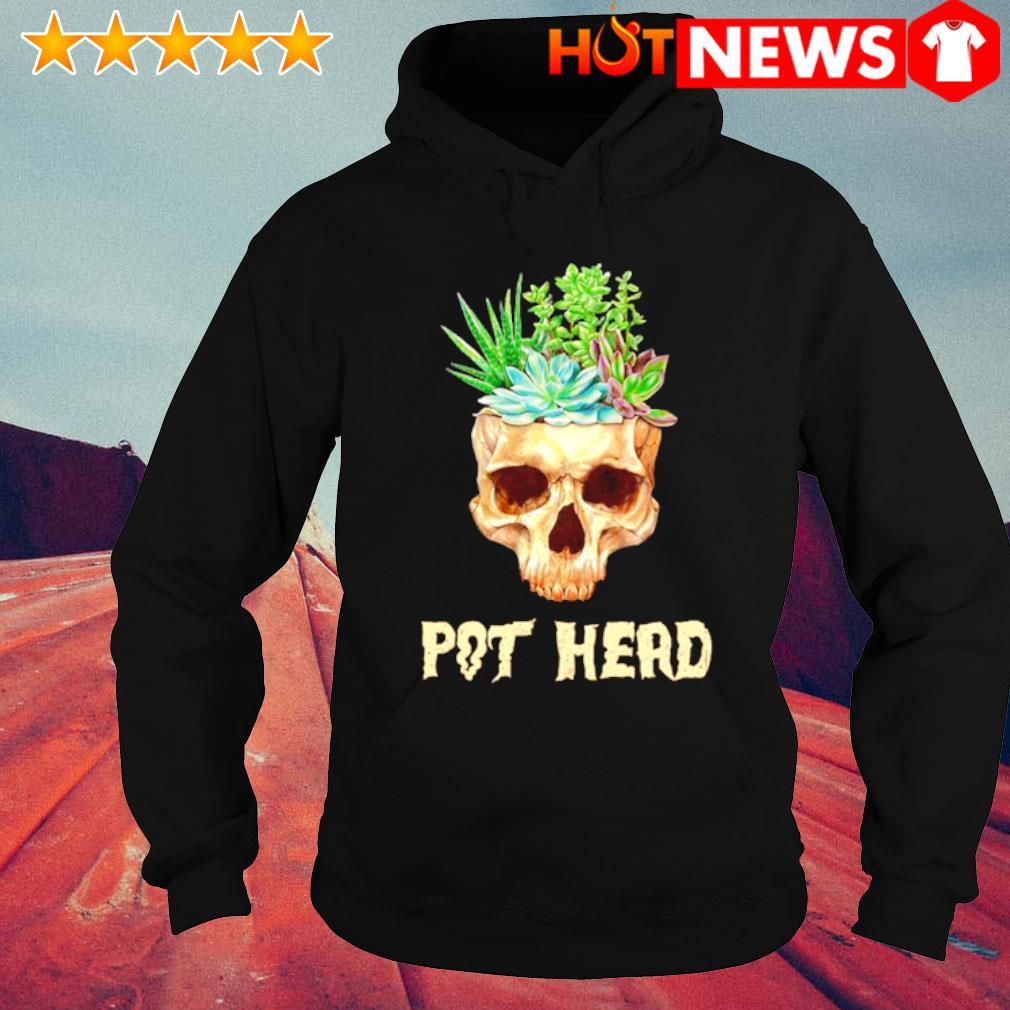 Skull Cactus pot head s hoodie
