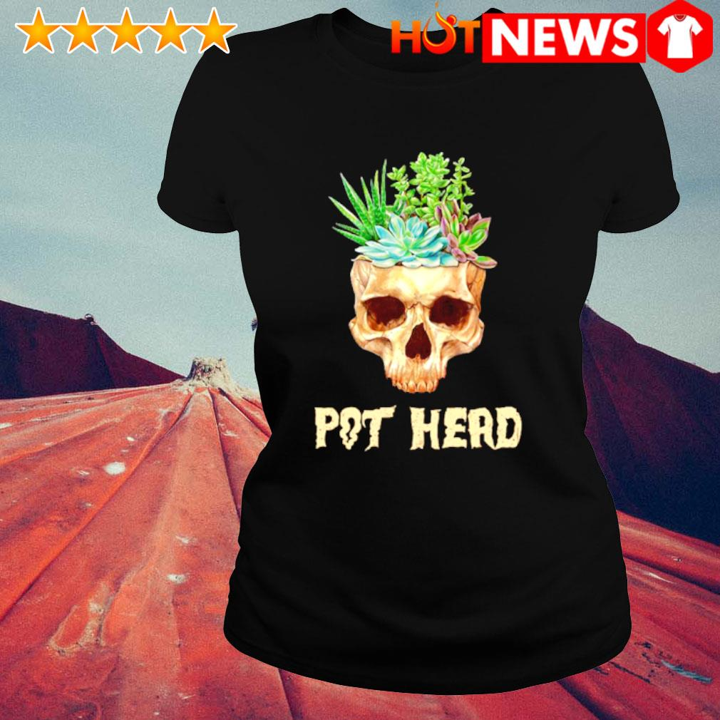 Skull Cactus pot head s ladies-tee