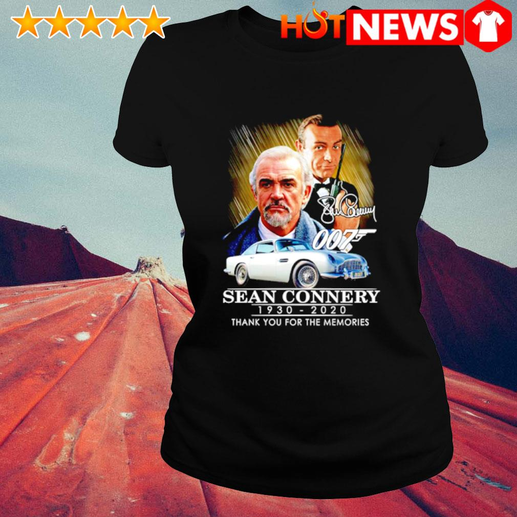 007 Sean Connery 1930 2020 thank you for the memories s ladies-tee