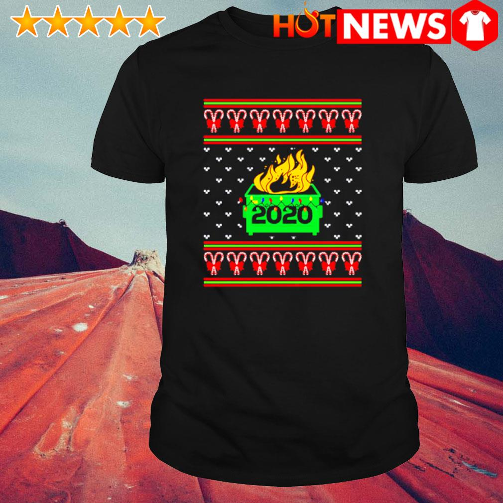 2020 Dumpster fire light Christmas shirt
