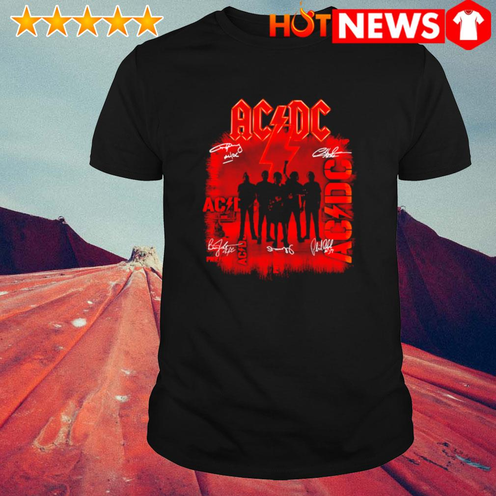 ACDC pwr up members signature shirt