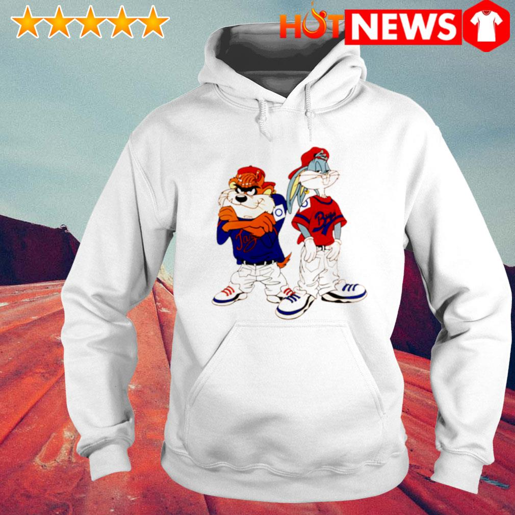 Gangster Taz and Bugs Bunny s 6 HNT Hoodie White