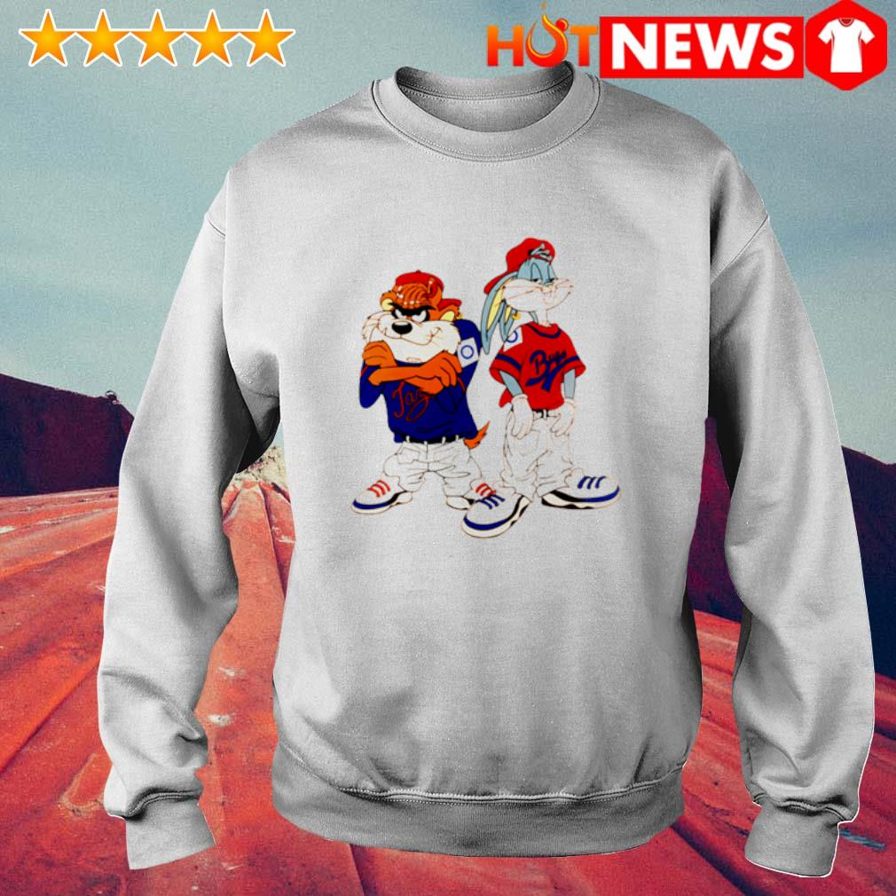 Gangster Taz and Bugs Bunny s 6 HNT Sweat White
