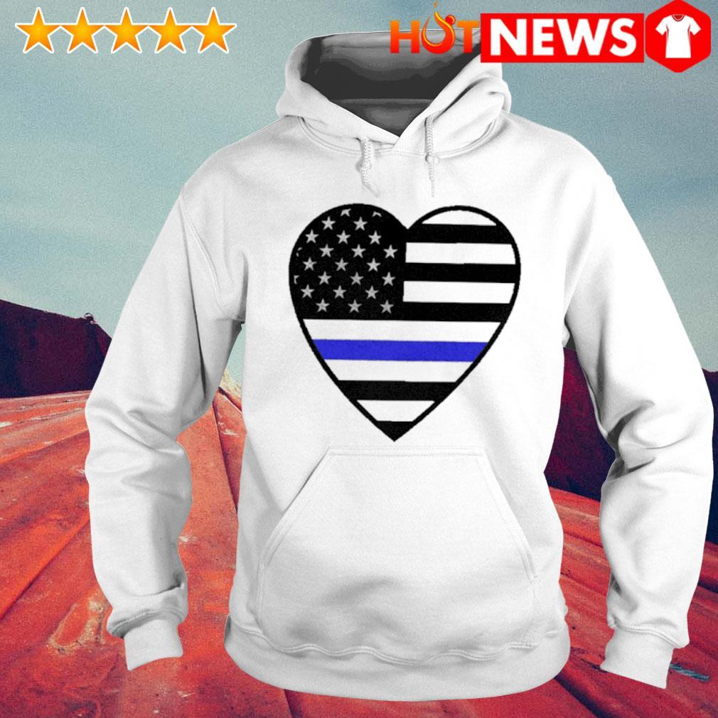 Heart Thin Blue Line s 6 HNT Hoodie White