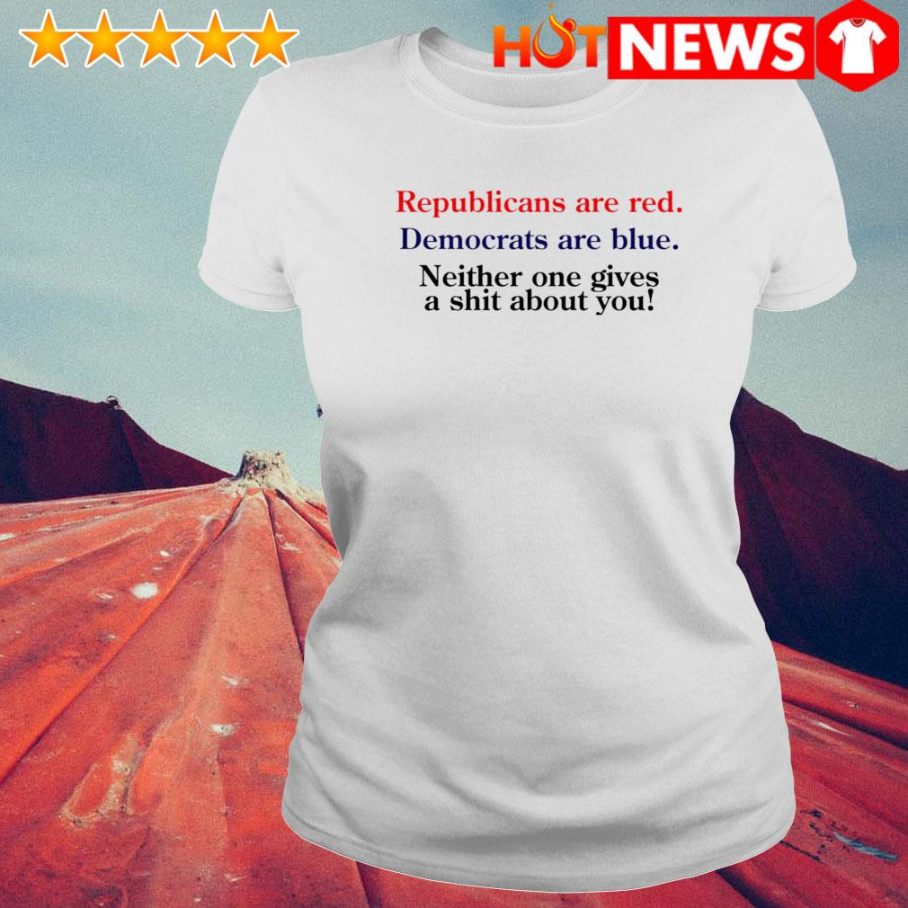 Republicans are red Democrats are blue s 6 HNT Ladie White