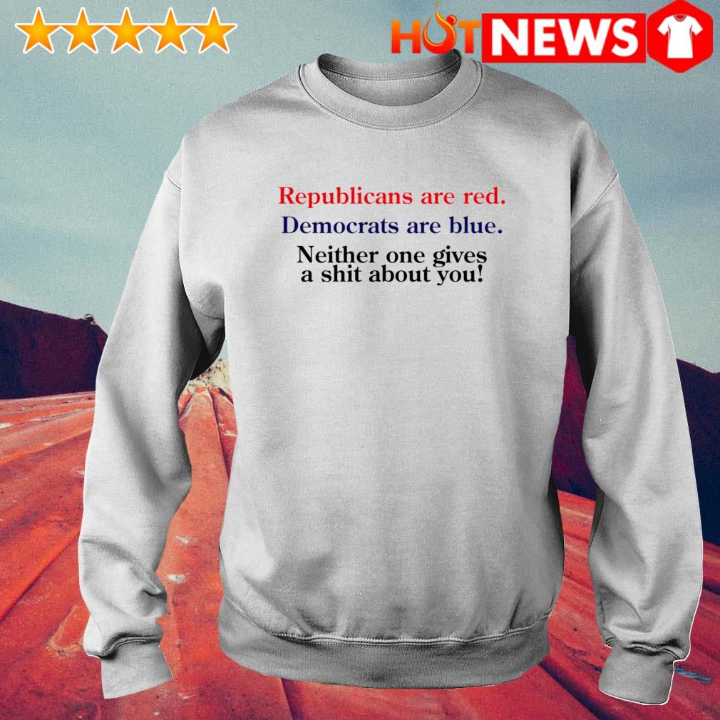 Republicans are red Democrats are blue s 6 HNT Sweat White