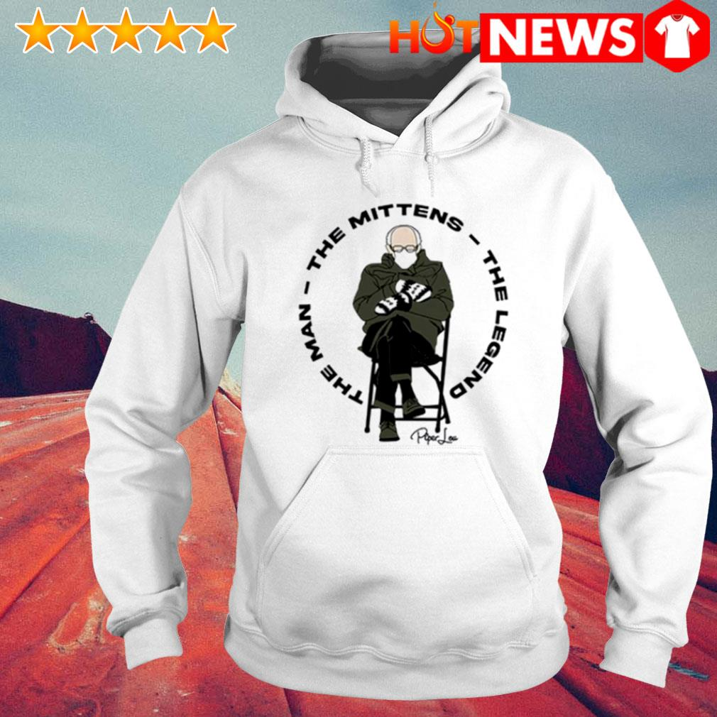 The man the mittens the legend Bernie Sanders s 6 HNT Hoodie White