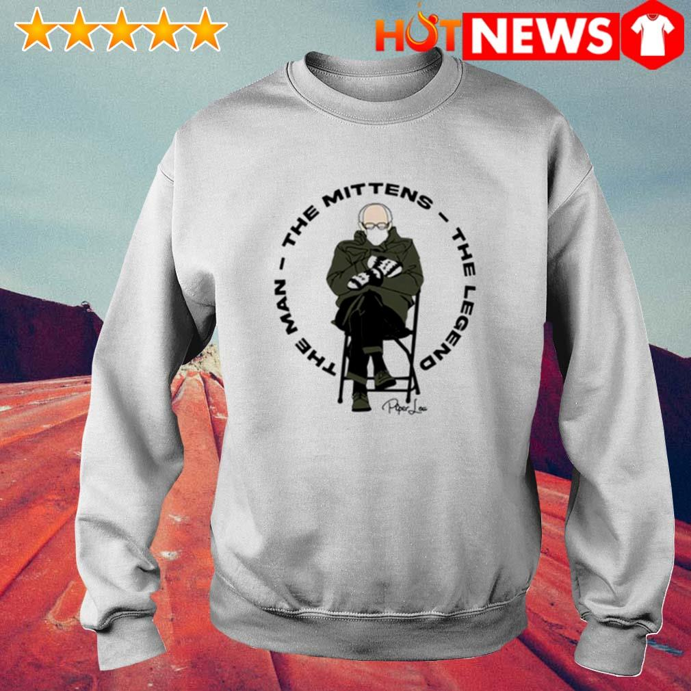 The man the mittens the legend Bernie Sanders s 6 HNT Sweat White