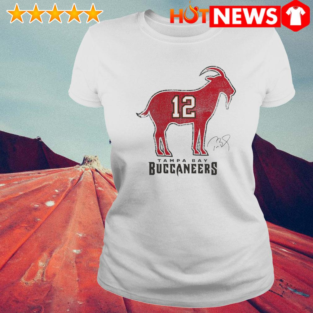 Tom Brady 12 Tampa Bay Buccaneers The Goat s 6 HNT Ladie White