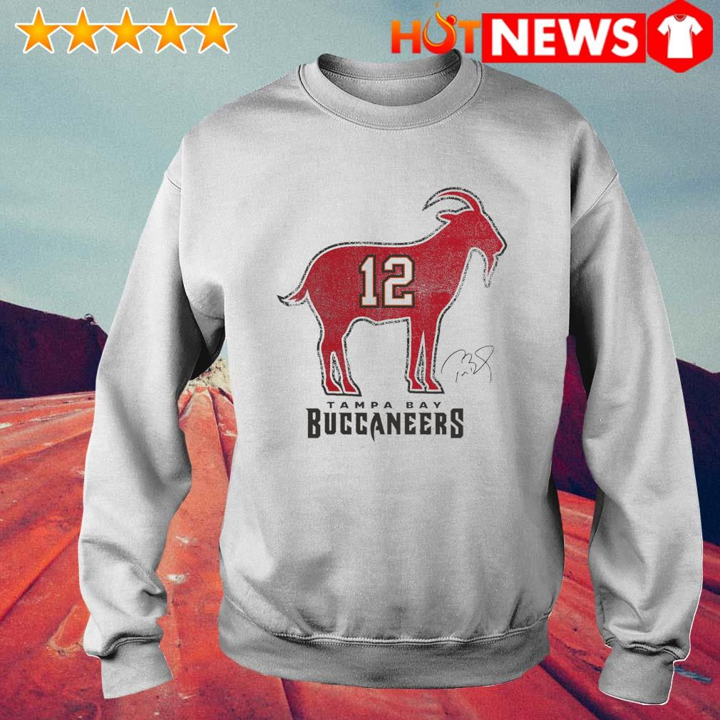 Tom Brady 12 Tampa Bay Buccaneers The Goat s 6 HNT Sweat White